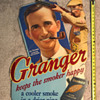 Granger Pipe Tobacco cardboard sign