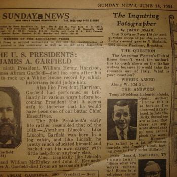 JUNE 14, 1964 POLITICAL CARTOON. SAN FRANCISCO EXAMINER - Paper