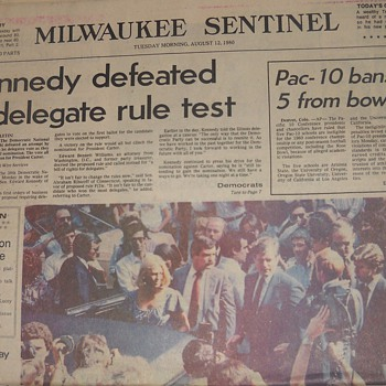Kennedy '80 Campaign newspaper - Paper