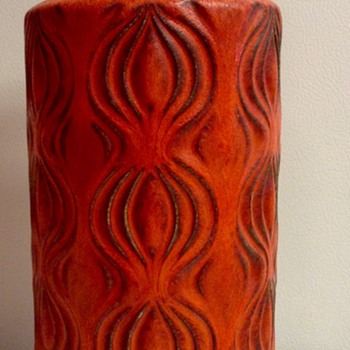 "West German Scheurich ""Onion"" Vase - Pottery"