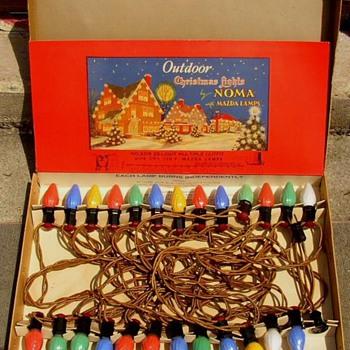 Vintage Noma 1940 Large 9 1/2 C Bulb I/O Xmas Light Set - Christmas