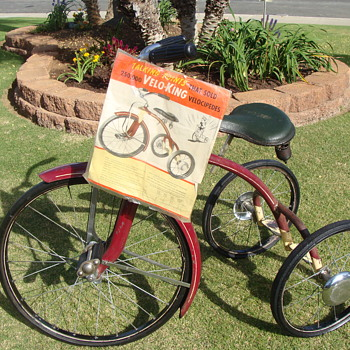 Sharing my 1930s Velo King Tricycle.  - Toys