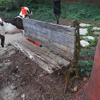 antique folding schoolhouse bench - Furniture
