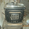 old wood burning stove