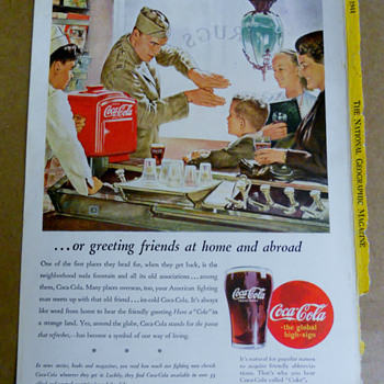 A Coca-Cola poster family remembers WW II days... - Coca-Cola