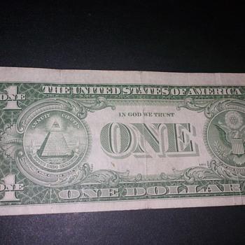 old one dollar bill