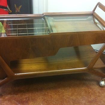 Italian Mid Century Bar Cart Mystery Item - Mid-Century Modern