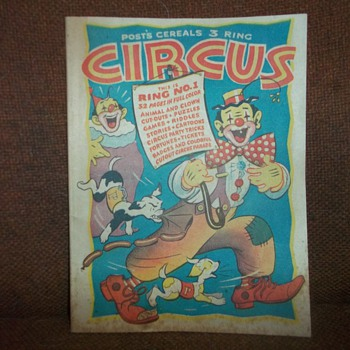 1946 POST CEREAL CIRCUS BOOK