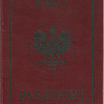 1938 Polish service passport - Paper