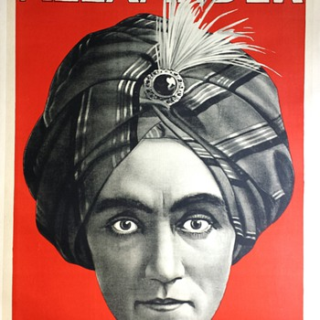 "Original 1920 ""Alexander The Man Who Knows"" Stone Lithograph Poster"