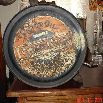 Long-Run...Five Gallon Oil Rocker Can...1920's - Petroliana