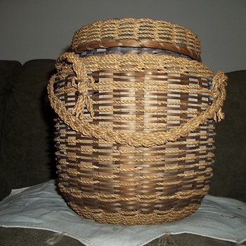 Native American  Penobscot String Basket - Native American