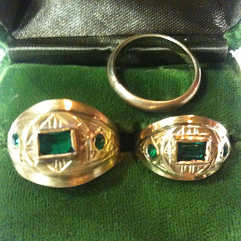 Old  matching Wedding Rings 1860's   - Fine Jewelry