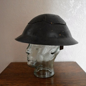 British WWII Civil Defence fibre and steel helmet