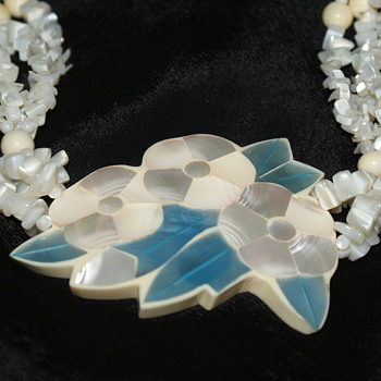 MOP and Shell Beads Necklace - Costume Jewelry