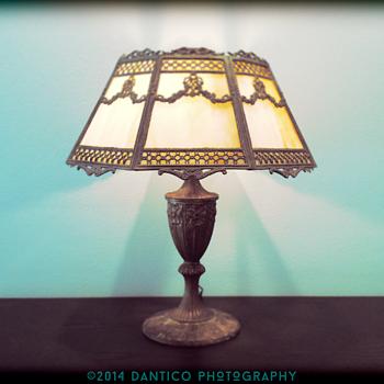 Great Miller Slag Glass Lamp