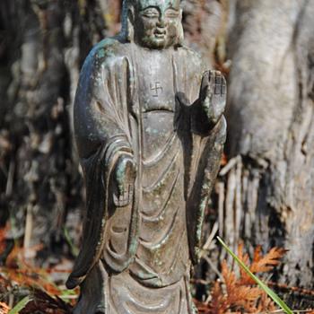 Ancient Chinese Nephrite Jade Buddha - Asian