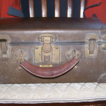 "Old Excelsior  Genuine Vulcanized Hard Fibre ""Mini""  Suitcase  - Bags"