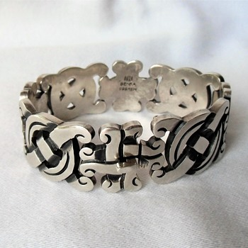 Fabulous Vintage Bracelet Mexico Sterling Silver 925 P.H. - Fine Jewelry