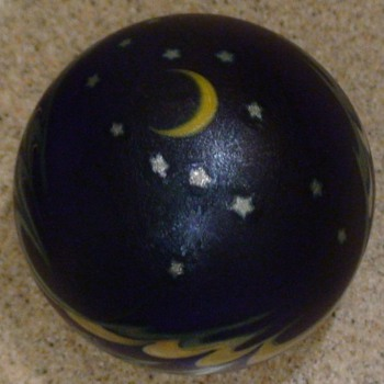 "Paperweight Lundberg Studios ""Night Sky"" 1988 - Art Glass"