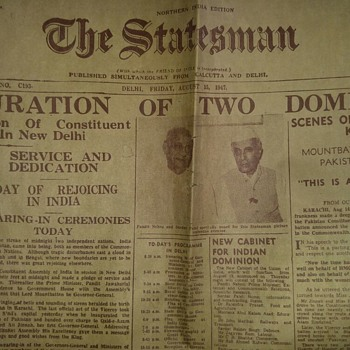 Indian independence Day rare and original newspaper complete pages