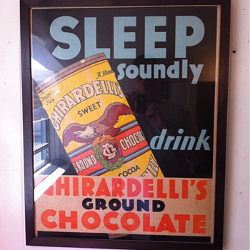 Ghirardelli store display poster - Advertising