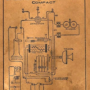 KELLOGG OAK CRANK WALL TELEPHONE WIRING DIAGRAM - Telephones