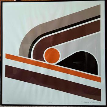 "Frank Rowland Serigraph ""Score"" - Mid-Century Modern"