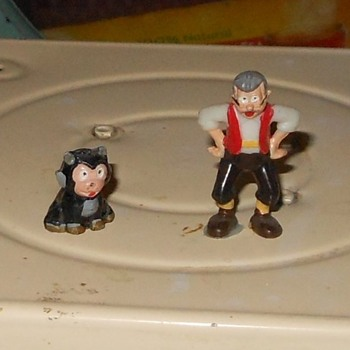 Geppetto and Figaro Disneykins Early 1960s - Advertising