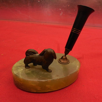 Pekingese Pen Holder, 1920s-30s