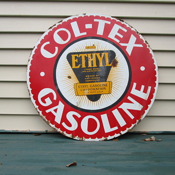 "Col-Tex 30"" Gasoline Sign - Signs"