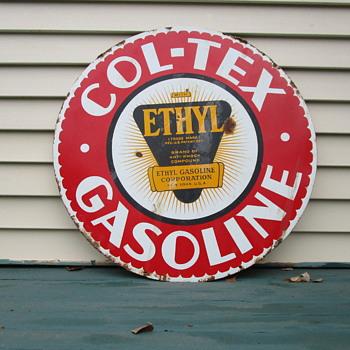 "Col-Tex 30"" Gasoline Sign"