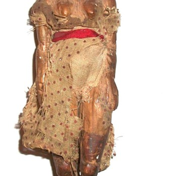Early Carved Folk Art Wooden Doll Collection Jim Linderman - Folk Art