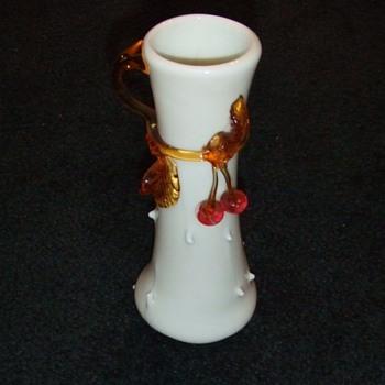 My first art glass Applied Cherries Vase - Art Glass