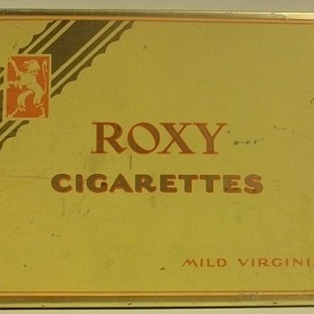 """Flat Fifties""  Cigarette Tins - Tobacciana"