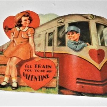 VALENTINE  1940's - Cards