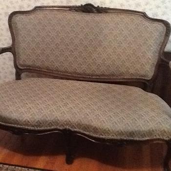 antique settee - Furniture