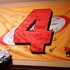 Morgan Mclure #4 Kodak Chevrolet Nascar autographed team Flag