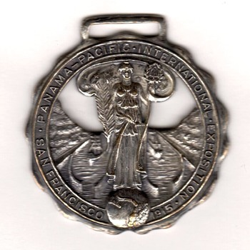 1915 Panama-Pacific International Exposition Official Souvenir Fob - Advertising