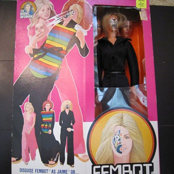 1977 The Bionic Woman Fembot Action Figure By Kenner In Original Box - Toys