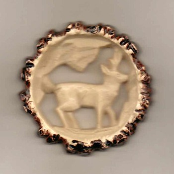 1940's - Plastic Deer Pin - Germany - Costume Jewelry