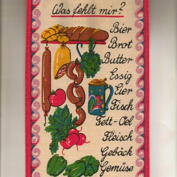 "German Linen ""Market List"" - Rugs and Textiles"