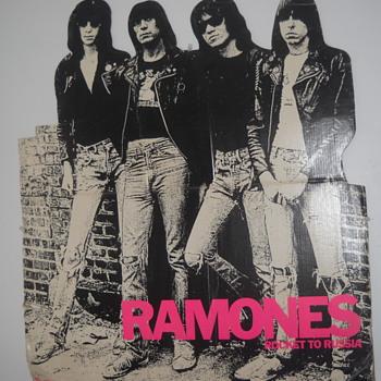 Ramones Rocket To Russia 1977 record store cardboard promo  - Music Memorabilia