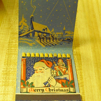 Old Christmas matches - Tobacciana