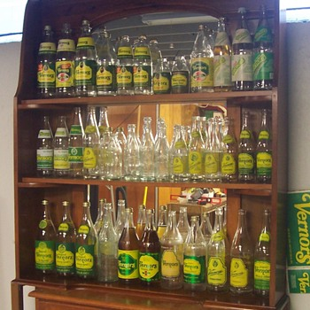My Vernors soda bottle display! - Bottles