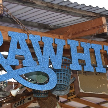 Very Cool 'Rawhide' Sign - Advertising