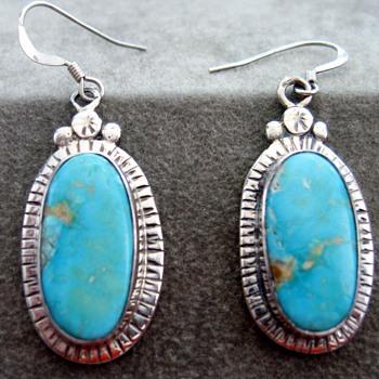 Great Turquoise Earrings! - Native American
