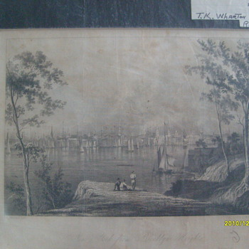 Original Steel Plate Print. NY 1834 - Posters and Prints