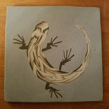 Nerikomi Pottery Lizard Trivet - Pottery