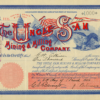 It's Tax Time!  One of my favorite Cripple Creek stock certificates. - US Paper Money